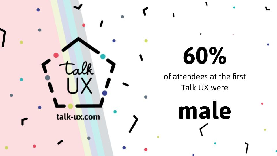 60% of Talk UX 2015 attendees were men